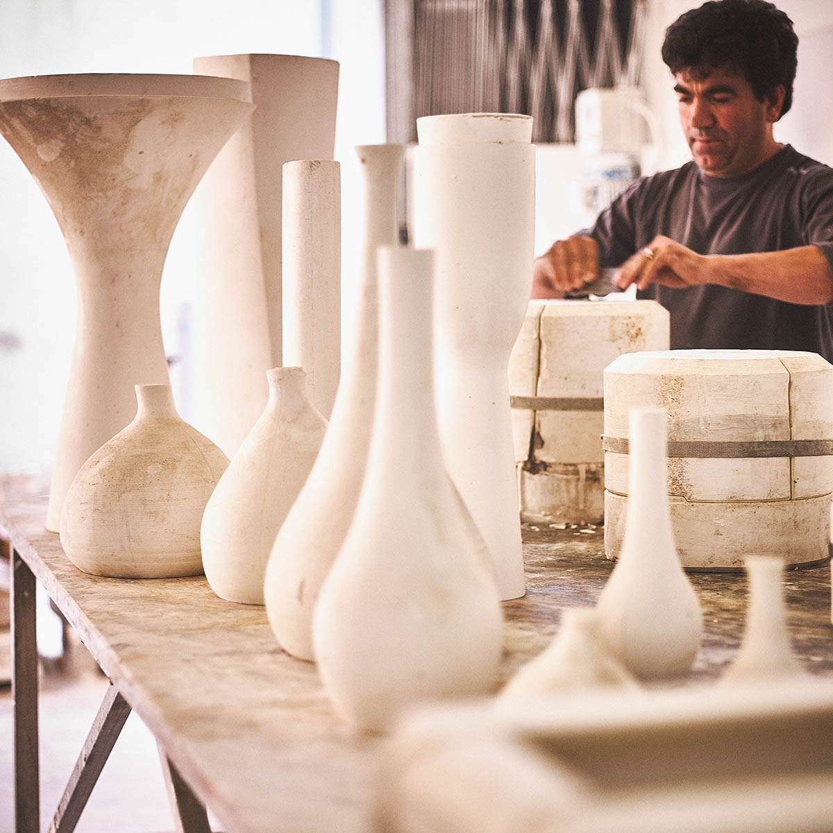 Editorial und Foto-Reportage Keramik-Produktion für ASA Selection