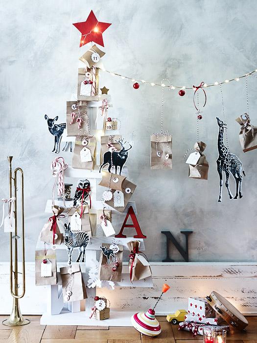 DIY-Idee Weihnachtsbaum-Alternative aus Hozleisten selbst machen