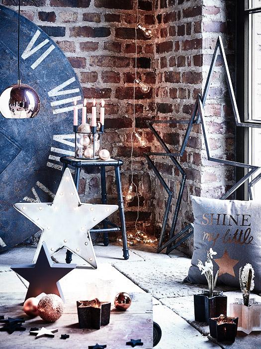 Winter-Deko und Metall-Sterne im Industrie-Look von DEPOT