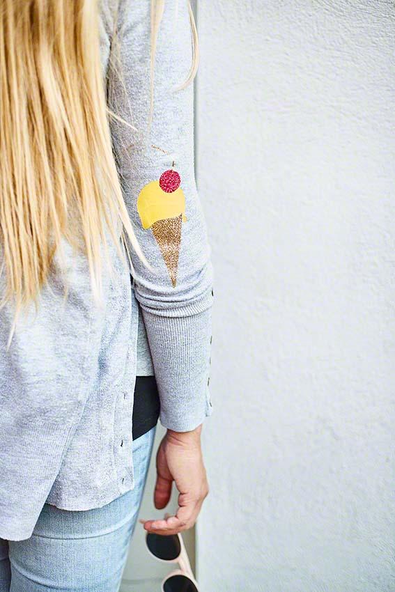 Ellenbogen-Patches selbst machen DIY