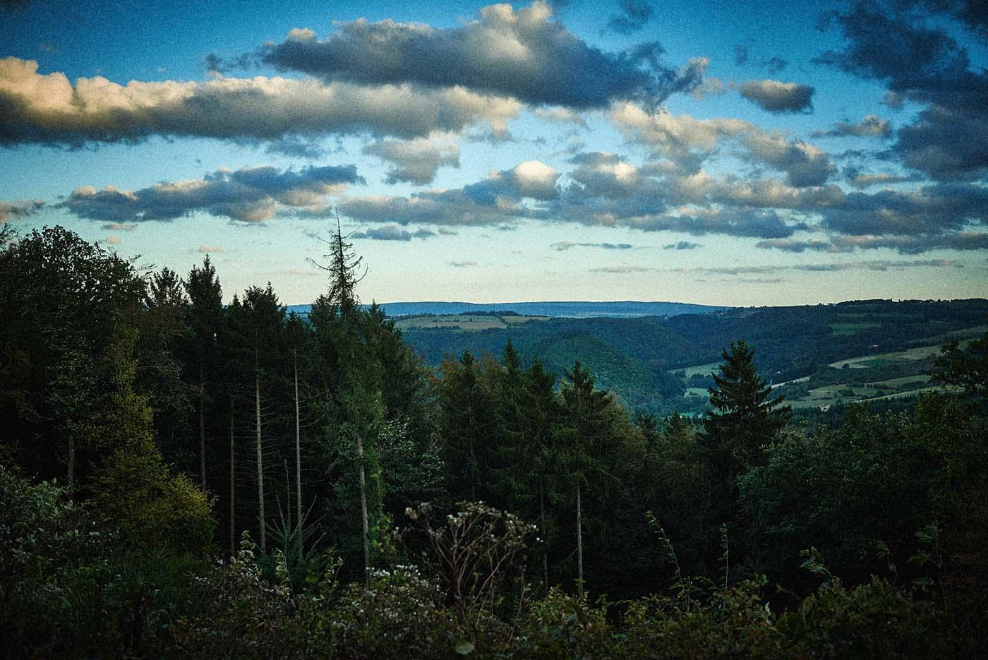 Landschaft in der Dämmerng - Jagd-Reportage mit Sternekoch Harald und Maximilian Rüssel Fotos: neon fotografie