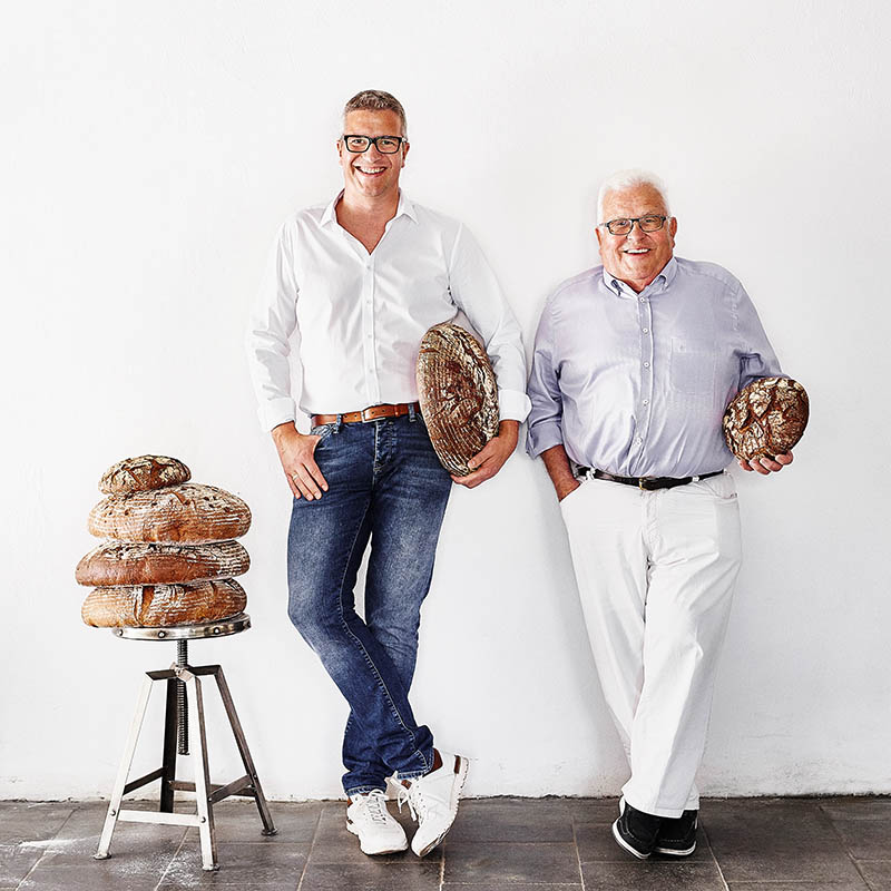 Bäcker-Portrait Vater und Sohn Foodreportage und Editorial Bäckerei Geisen Der Brotbäcker