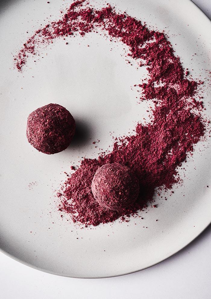 Pinke Pralinen mit Rote Bete Geschmack - Foodfotografie