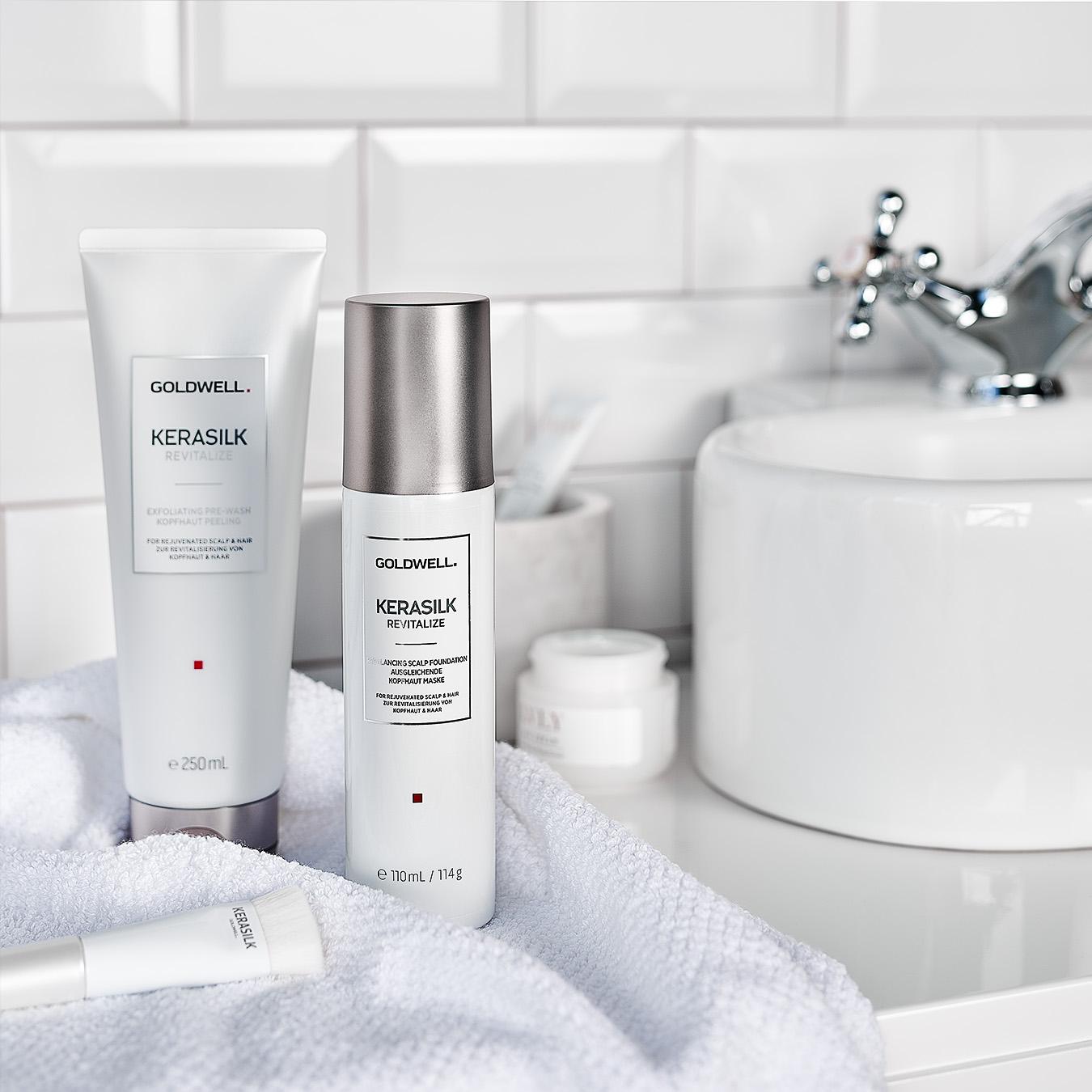 Social Media Produktfotos für Shampoo von Goldwell
