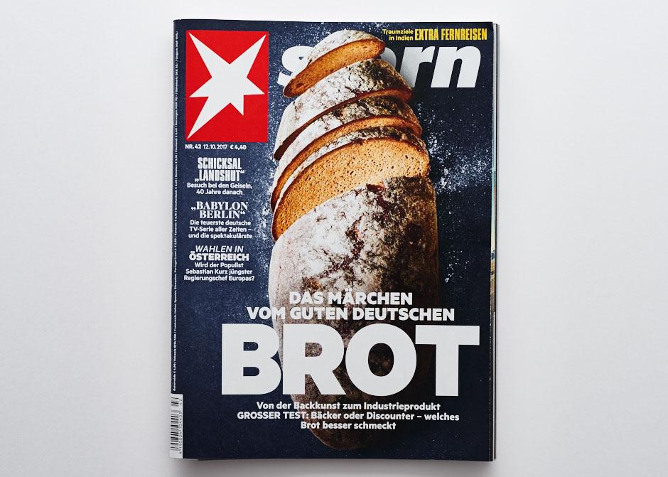 Stern Titel - Foodfotografie Brot - Opa Erich für die Bäckerei Geisen
